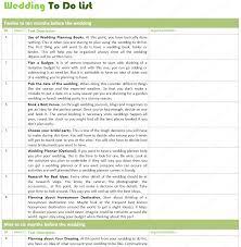To Do List For Wedding Free To Do List