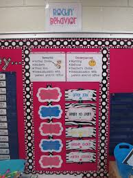 Behavior Chart And Class Rules Consequences Listed Together
