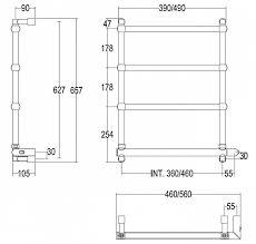 Купить <b>полотенцесушитель электрический Margaroli Sole</b> 542/TS ...