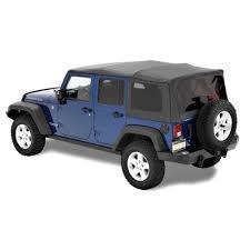 bestop plete replacement soft top supertop nx black diamond 4 door jeep wrangler jk 2007