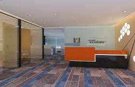 floor office. office floor design render view b