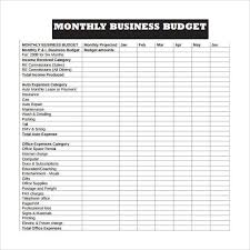 Monthly Business Expenses Template