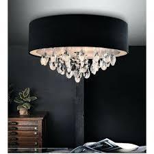 black drum chandelier lighting black dash 3 light drum shade flush mount in chrome black drum black drum chandelier black drum light