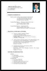Resume Template For College Student Math Resume Examples For College