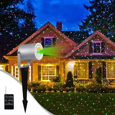Laser Light Projector Nexgadget Outdoor Laser Light Projector Waterproof Aluminum Red And Green Garden Laser Light With Radar Wireless Remote Control For Holiday Party