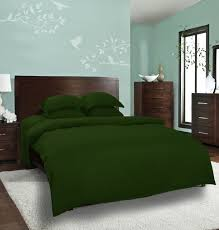 mrs a plus collection dyed plain green bed sheet