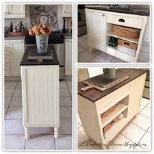 Small Kitchen Desk Remodelaholic Upcycled Vintage Desk Into Kitchen Island With Storage