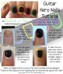 Nail art for short nails #2: Guitar Hero Nails