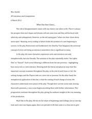 the importance of being earnest essay ap literature summer  2 pages rosencrantz and guildenstern essay