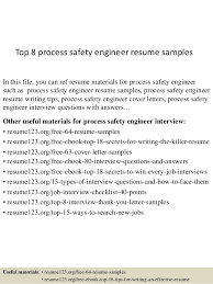 Process Safety Engineer Sample Resume Ajrhinestonejewelry Com