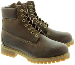 timberland leather 27097 6 inch classic lace ankle boots in brown main image loading zoom timberland leather