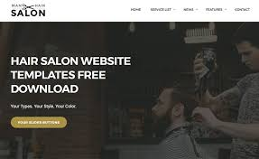 Hair Saloon Websites Free Download Html5 Css3 Website Template For Mens Hair Salon Sites