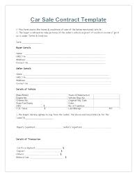 Car Selling Template Receipt Distance Contract Example Sell Form