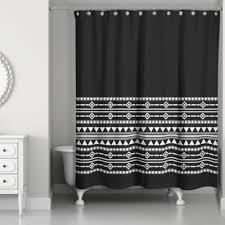 Image Amazon Bed Bath Beyond Boho Tribal Shower Curtain In Blackwhite