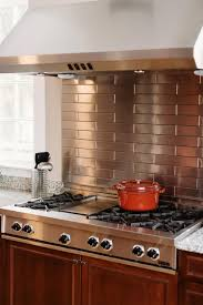 mixed metal backsplash
