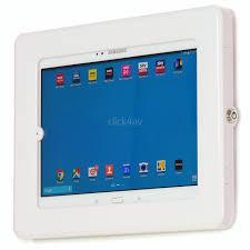 anti theft ipad tablet wall mount holder secure lockable display case pad1504