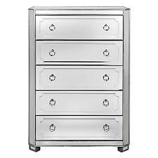 tall dresser chest. Simplicity Mirrored 5 Drawer Tall Chest Dresser O