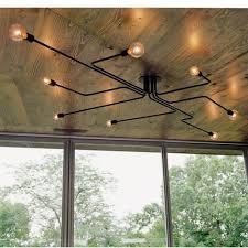 industrial edison light modern vintage chandelier ceiling pendant lamp holder uk