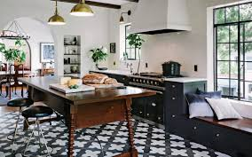 Most Popular Kitchen Flooring Spanish Black White Encaustic Kitchen Floor Tile Design In A