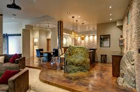 Small Picture Concrete Floors in Homes Basement Contemporary with Boulders Brick