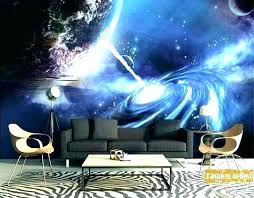 themed wallpaper space bedroom decoration custom mural star of outer universe border wall