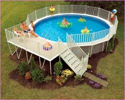 above ground swimming pool designs. Above Ground Swimming Pool Landscape Designs Pictures