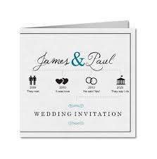 Wedding Timeline Fascinating Wedding Invitation Hishis Timeline PlanetCardscouk