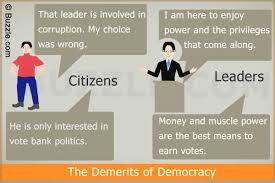 advantages and disadvantages of a democracy you need to be aware of demerits of democracy