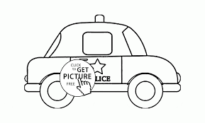Police Car Coloring Page For Toddlers Transportation Coloring Pages