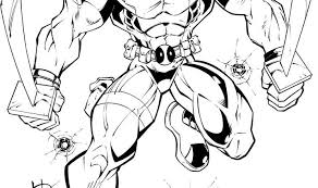Small Picture Deadpool Coloring Pages Bestofcoloring Com Coloring Coloring Pages