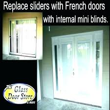 home depot sliding glass door installation cost replace to patio with french doors of