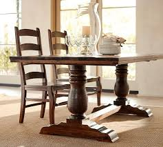 wood dining tables. Wood Dining Table Bowry Reclaimed Fixed   Pottery Barn LZKXOSV Tables