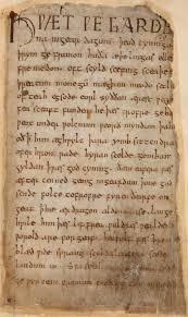 beowulf  beowulf cotton ms vitellius a xv f 132r jpg