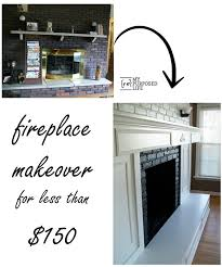 inexpensive fireplace makeover