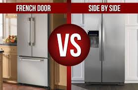 french door refrigerator in kitchen. French Door Refrigerator VS Side By In Kitchen N