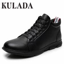 <b>KULADA</b> High Quality <b>Winter Boots</b> Men Leather Ankle Boots ...