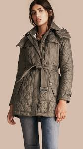 Lyst - Burberry Finsbridge Diamond Quilted Coat Mink Grey in Gray & Gallery. Women's Quilted Coats Adamdwight.com