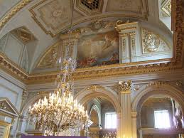 Royal Palace (Palais Royal): Beautiful ceilings and chandeliers!