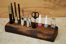 cosmetic organizer gift for her wooden makeup organizer