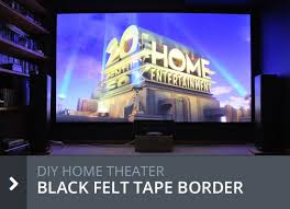 home theater screen border