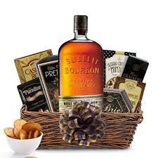 bulleit bourbon gift basket whiskey