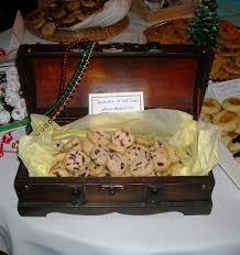 Treasure Chest Decorations Artfully Graced Snowman Stirrers And Cookies Galore