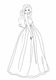 Free Girl Coloring Pages Barbie For Girls Printable Coloring Pages