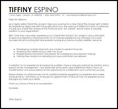 Credit Analyst Cover Letter Cover Letter Design Credit Analyst Cover