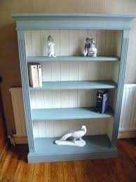 small white shabby chic bookcase bookshelf top book up cycled solid pine in duck egg original
