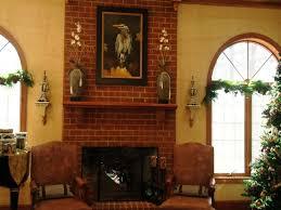 vintage red brick fireplace