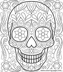 Day Of The Dead Coloring Pages For Adults Free Printable Day Dead