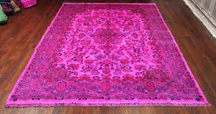 pretentious overdyed pink rug hot pink overdyed rug vintage persian kerman