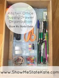 Kitchen office organization Pantry Mission Organizationkitchen Office Supply Drawer Show Me State Kate Show Me State Kate Mission Organizationkitchen Office Supply Drawer
