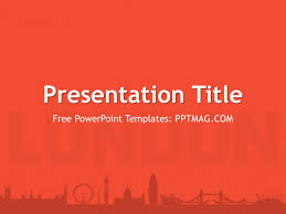Red Ppt Free London Powerpoint Template Pptmag